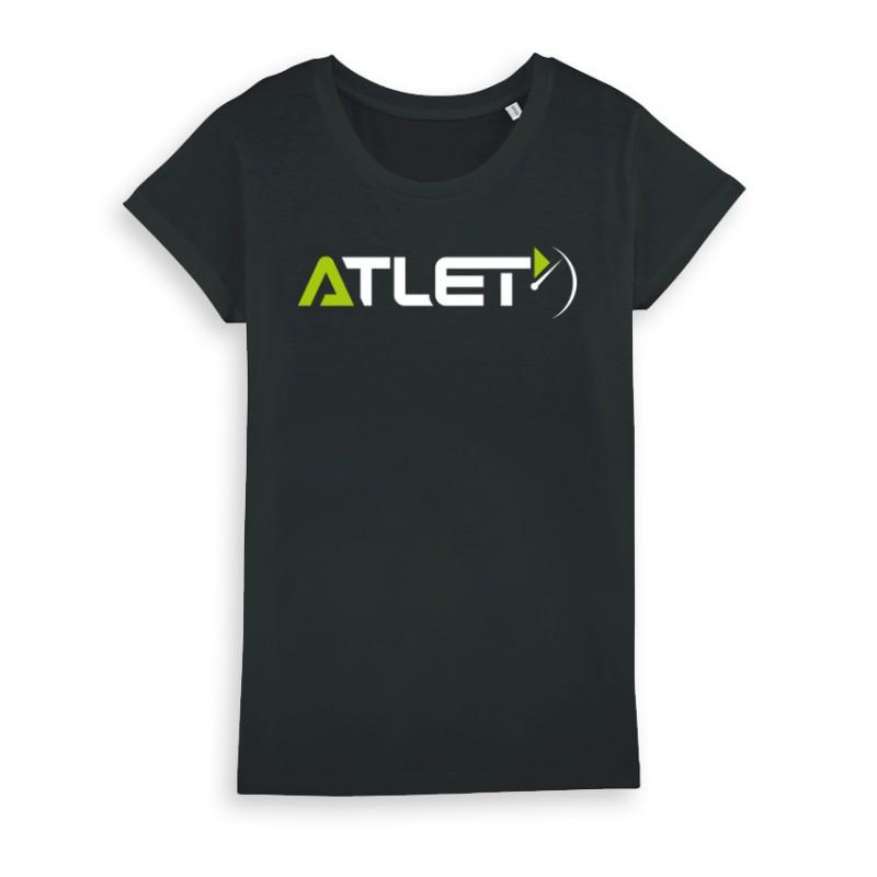 t shirt atlet femme coton biologique